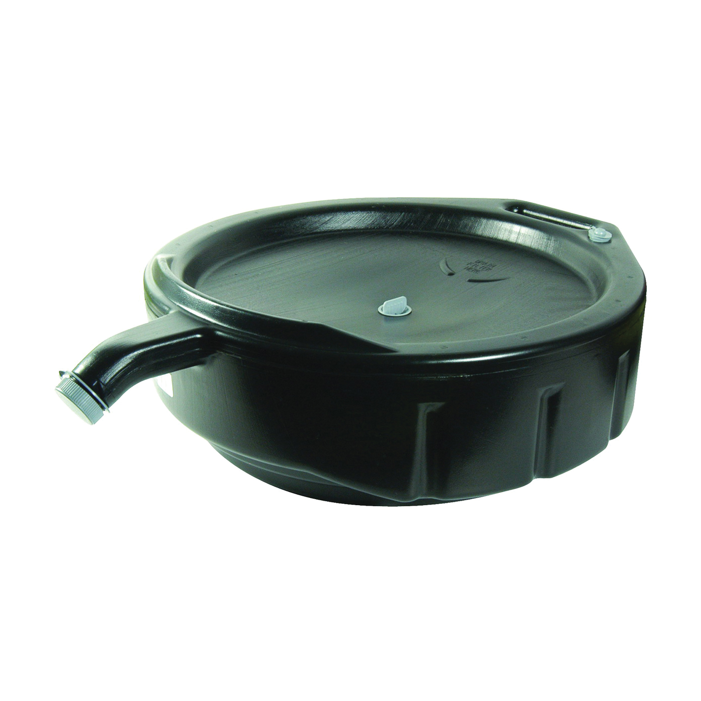 Picture of FloTool Super-Duty 11838 Oil Drain Pan, 15 qt Capacity, Polyethylene, Black