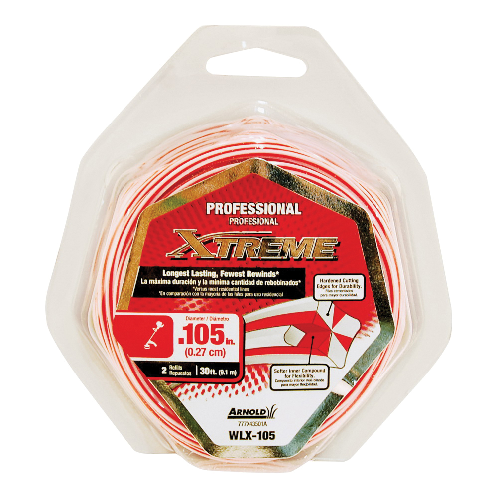 Picture of Arnold Xtreme Professional WLX-105 Trimmer Line, 0.105 in Dia, 30 ft L, Monofilament