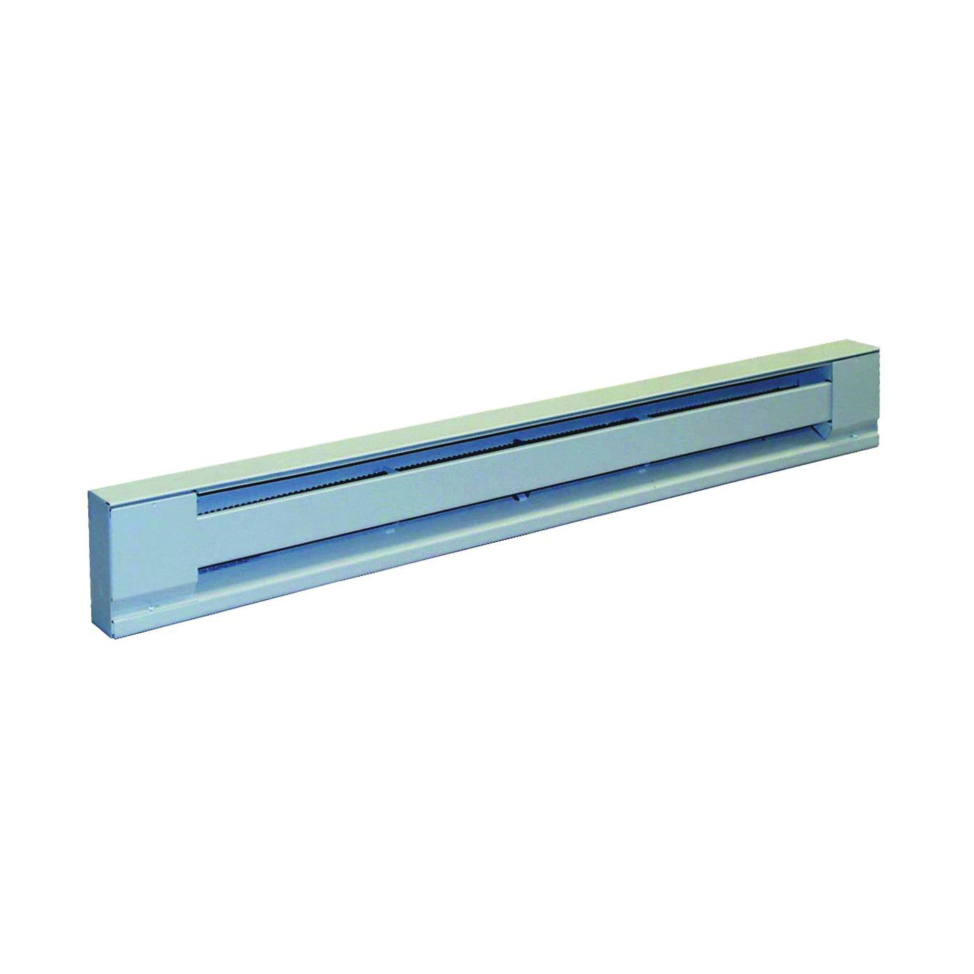 Picture of TPI 2900S Series H2910-048S Baseboard Heater, 4.2/3.6 A, 208/240 V, 3413/2550 Btu/hr BTU, Ivory