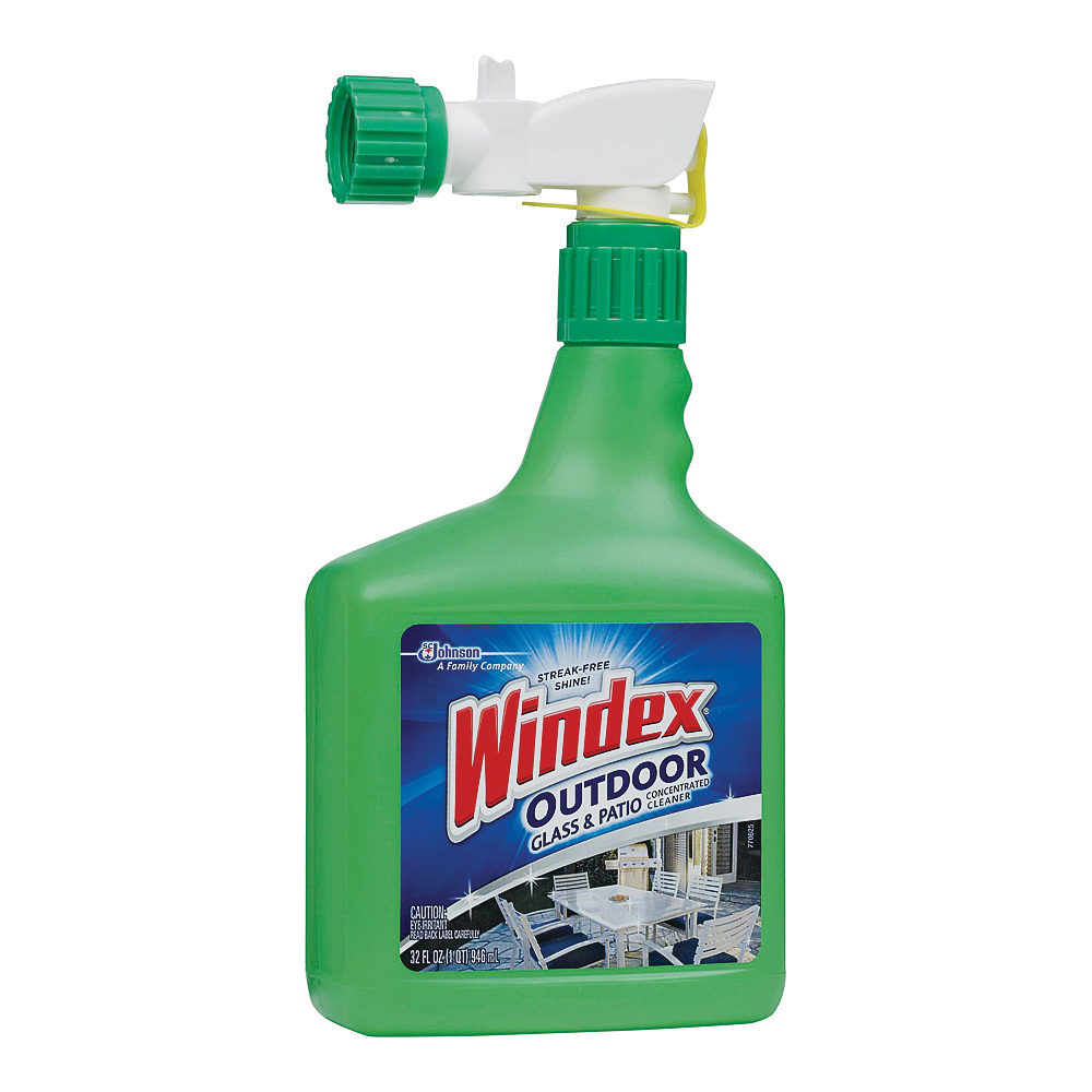 Picture of Windex 10122 Glass Cleaner, 32 oz Package, Bottle, Liquid, Characteristic, Clear