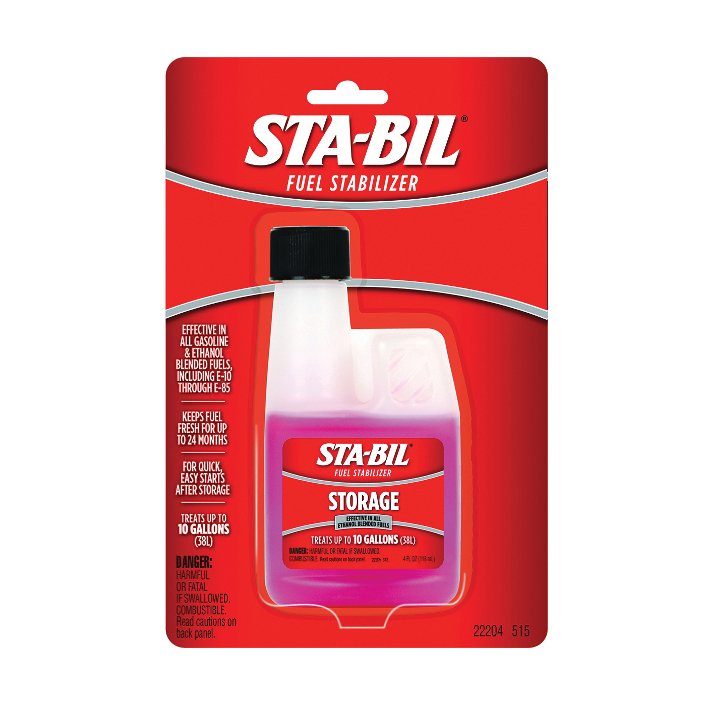 Picture of STA-BIL 22204 Fuel Stabilizer Red, 4 oz Package, Bottle