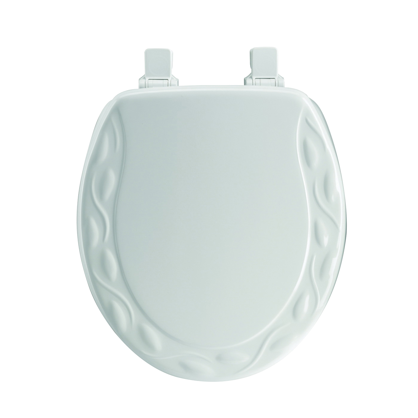 Picture of Mayfair 34EC-000 Toilet Seat, Round, Wood, White, Twist Hinge