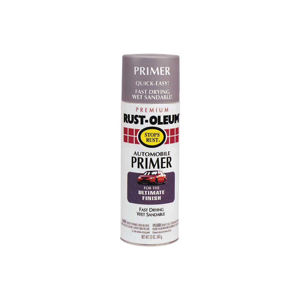 Picture of RUST-OLEUM STOPS RUST 2081830 Automotive Primer Spray Paint, Light Gray, 12 oz, Aerosol Can