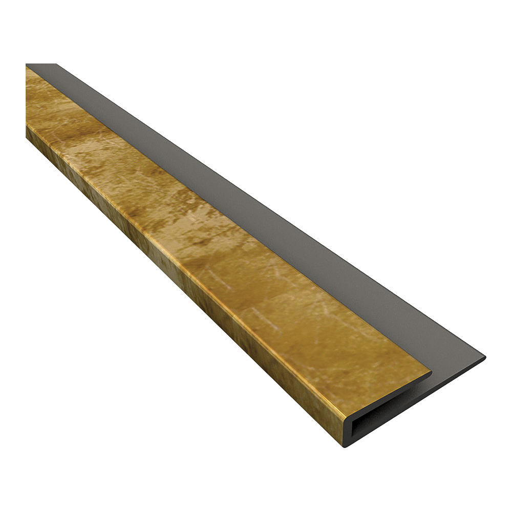 Picture of Fasade 92317 Edge J-Trim, 18 in L, Thermoplastic, Bermuda Bronze