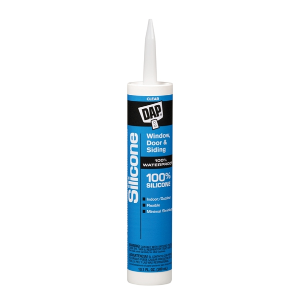 Picture of DAP 08641 Window and Door Sealant, Clear, -40 to 400 deg F, 9.8 fl-oz Package, Cartridge