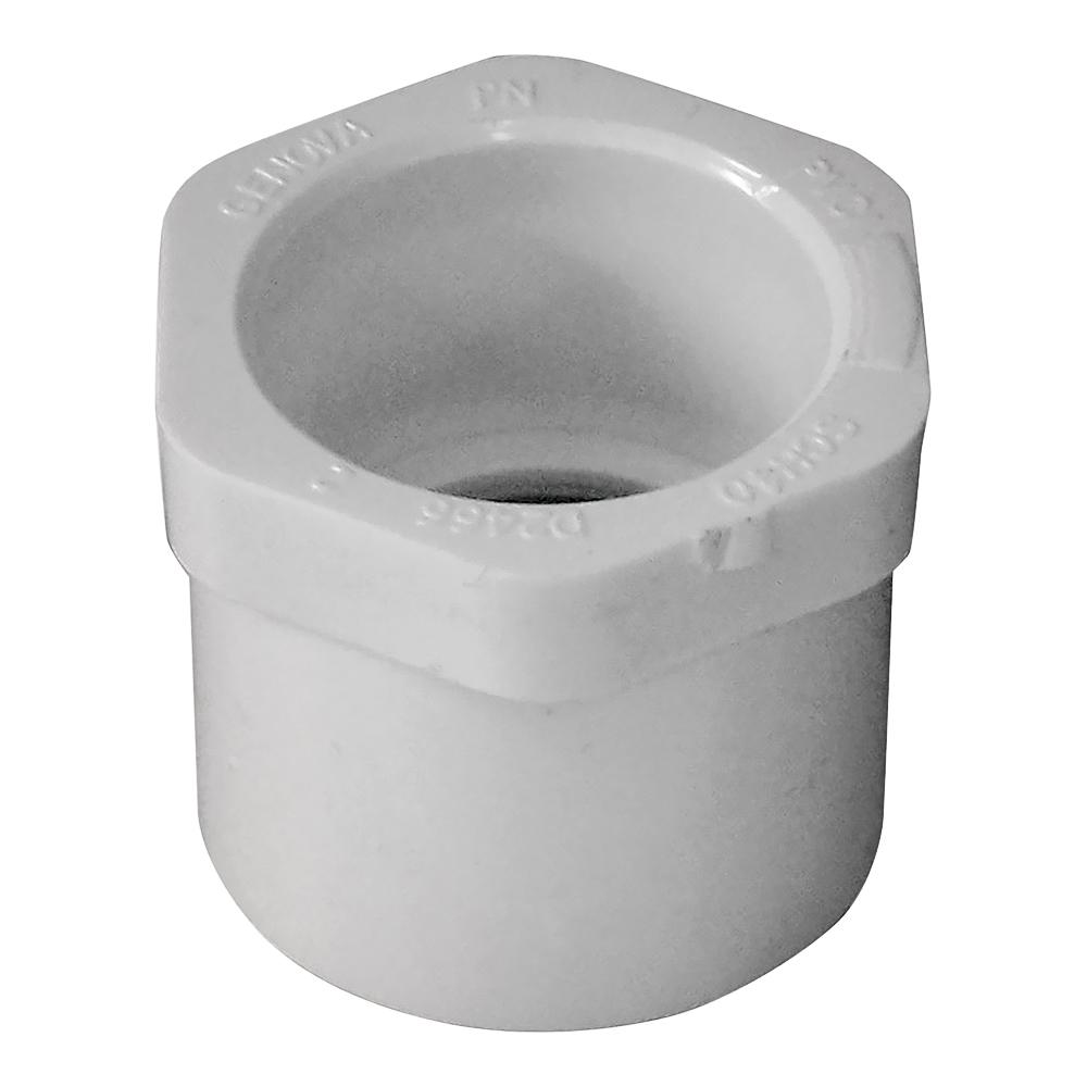 Picture of GENOVA 300 Series 30217 Pipe Reducing Bushing, 1 x 3/4 in, Spigot x Slip, White, SCH 40 Schedule