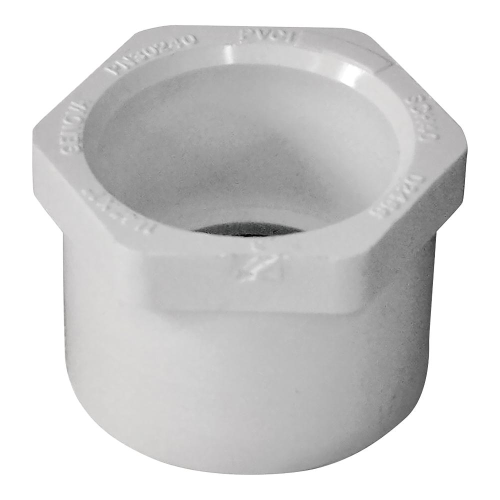 Picture of GENOVA 300 Series 30240 Pipe Reducing Bushing, 1-1/4 x 1 in, Spigot x Slip, White, SCH 40 Schedule
