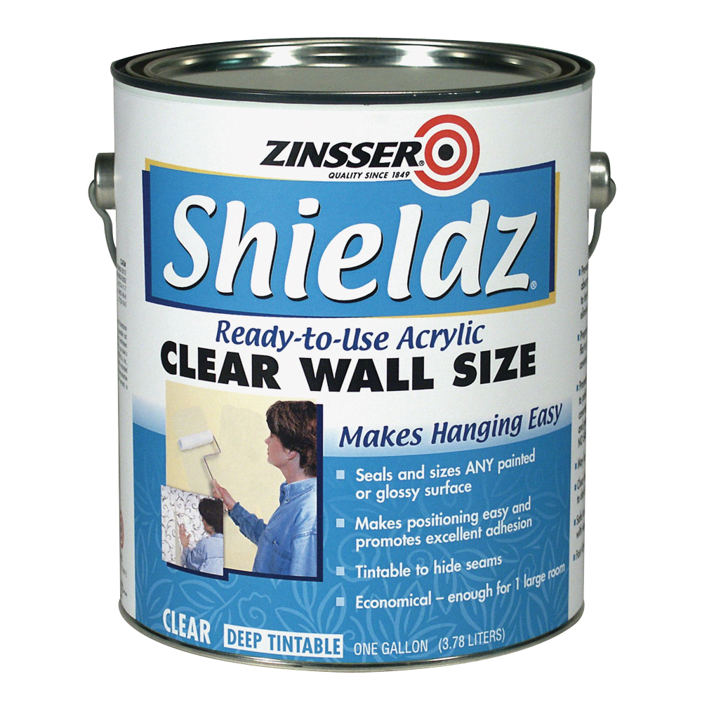 Picture of ZINSSER 02101 Acrylic Wall Size, Clear, 1 qt, Pail, Liquid
