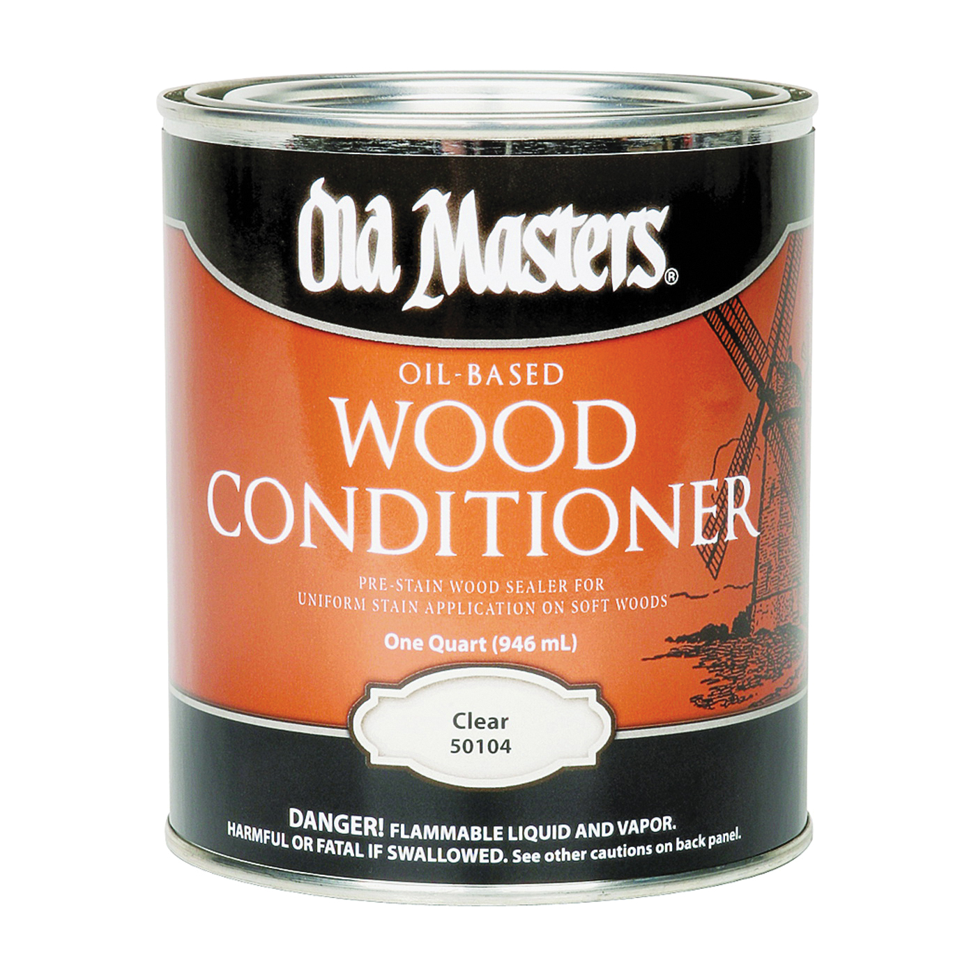 Picture of Old Masters 50104 Wood Conditioner, Clear, Liquid, 1 qt, Can