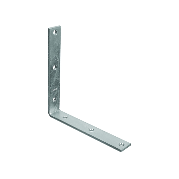 Picture of National Hardware 115BC Series N220-178 Corner Brace, 8 in L, 1-1/4 in W, Steel, Zinc, 0.22 Thick Material