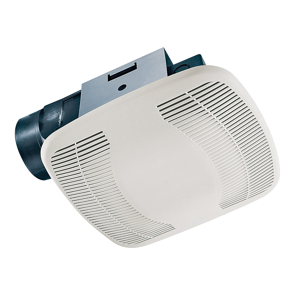 Picture of Air King BFQ50 Exhaust Fan, 8-11/16 in L, 9-1/8 in W, 0.3 A, 120 V, 1-Speed, 50 cfm Air, ABS, White