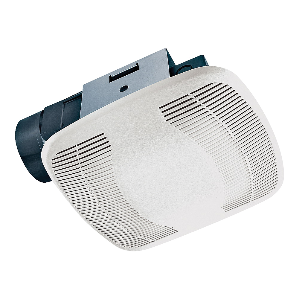Picture of Air King BFQ110 Exhaust Fan, 8-11/16 in L, 9-1/8 in W, 0.5 A, 120 V, 1-Speed, 100 cfm Air, ABS, White