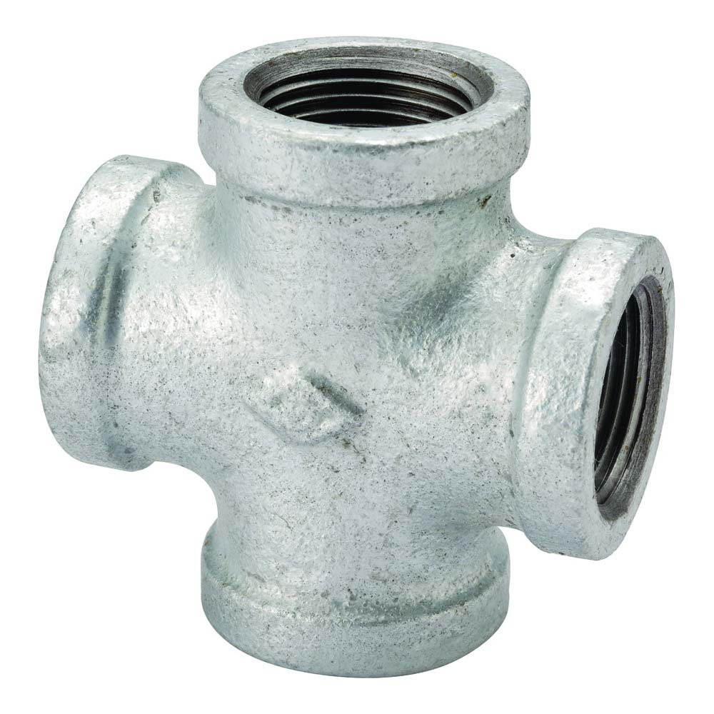"""Picture of ProSource PPG180-40 Galvanized Cross 1-1/2"""" Female Equal"""