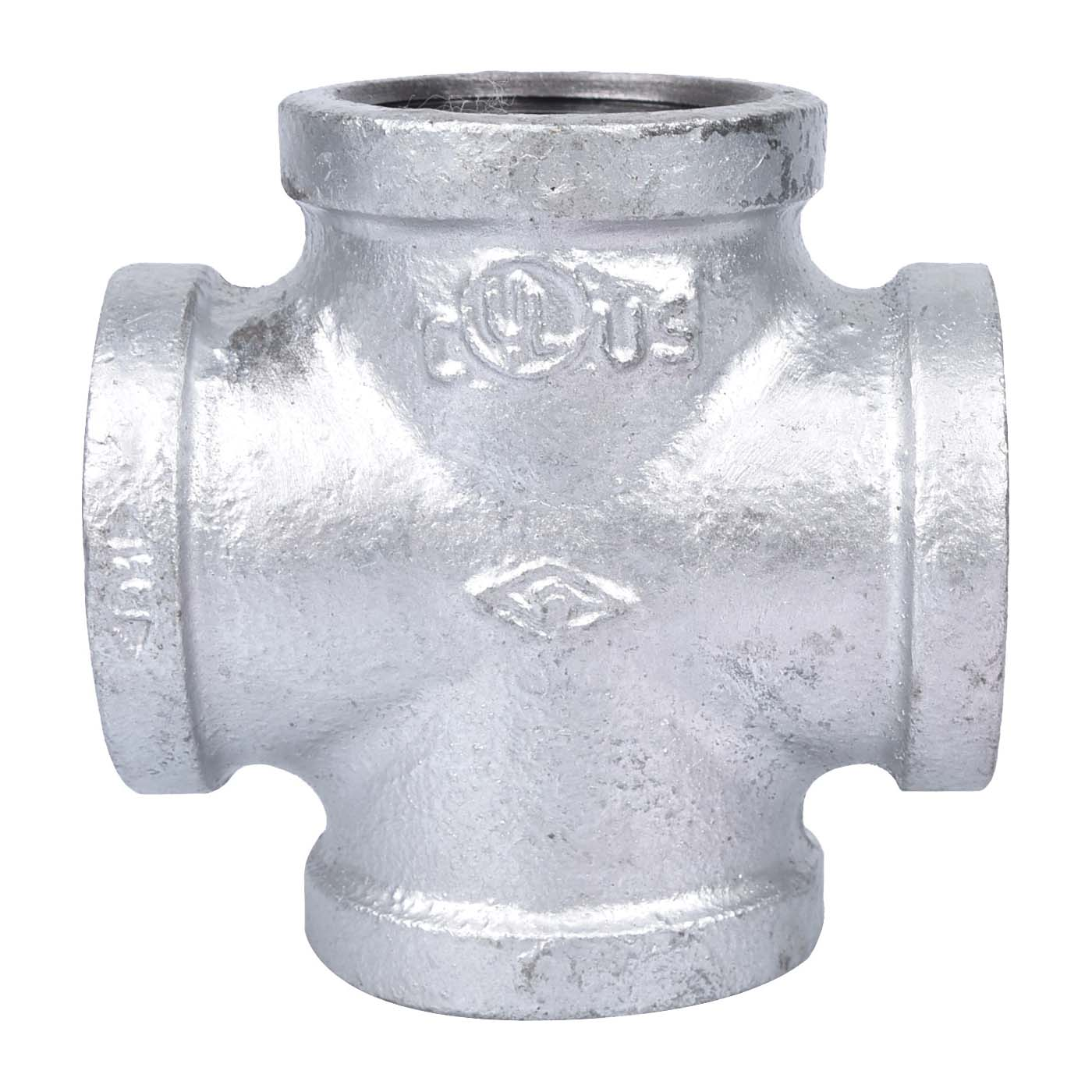 """Picture of ProSource PPG180-32 Galvanized Cross 1-1/4"""" Female Equal"""