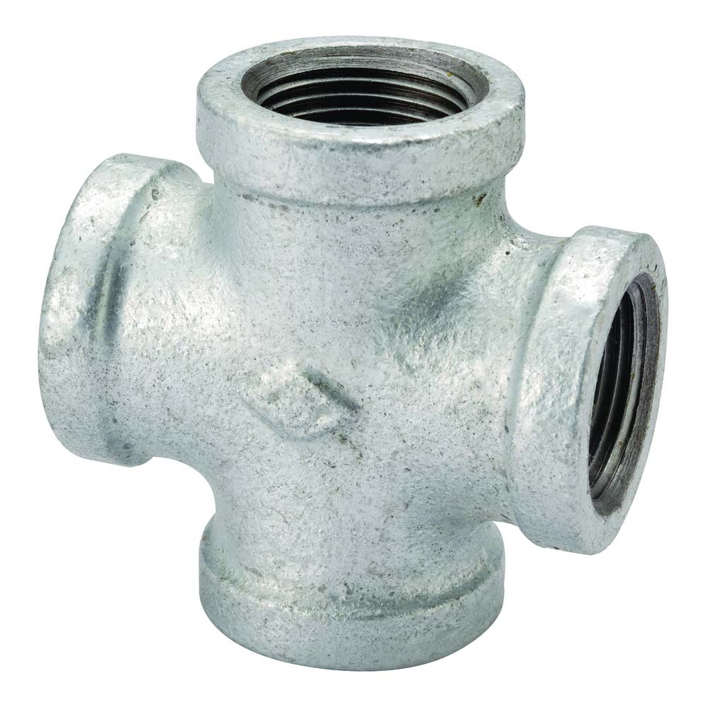 """Picture of ProSource PPG180-50 Galvanized Cross 2"""" Female Equal"""