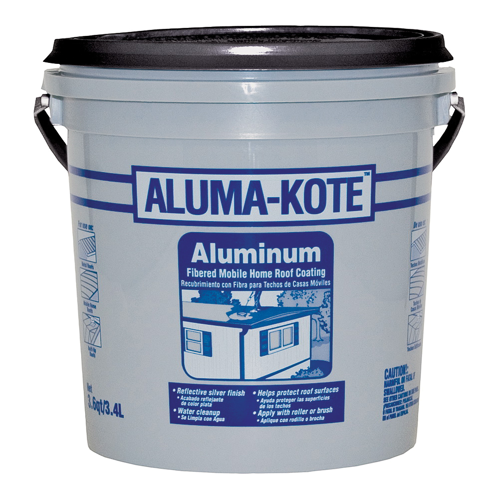 Picture of Gardner 6241-GA Mobile Home Roof Coating, Silver, 3.4 L, Liquid