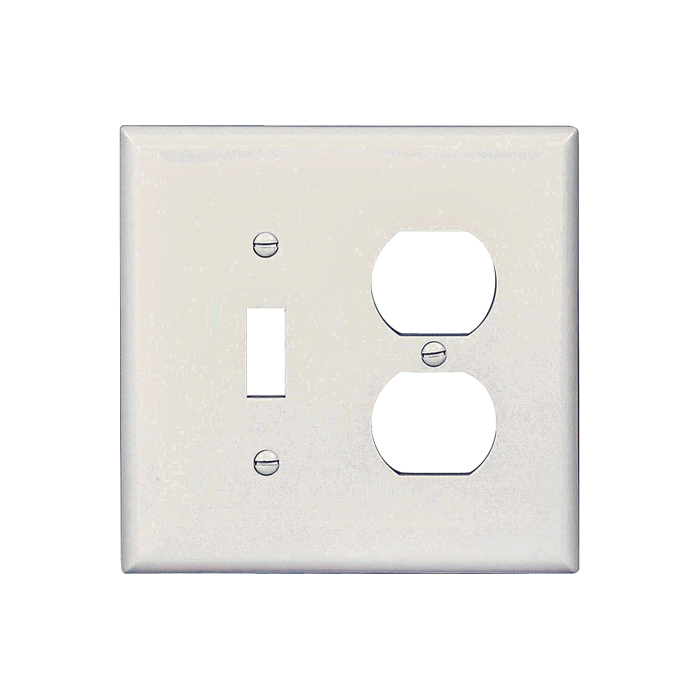 Picture of Eaton Wiring Devices PJ18W Wallplate, 4-7/8 in L, 4-15/16 in W, 2-Gang, Polycarbonate, White, High-Gloss