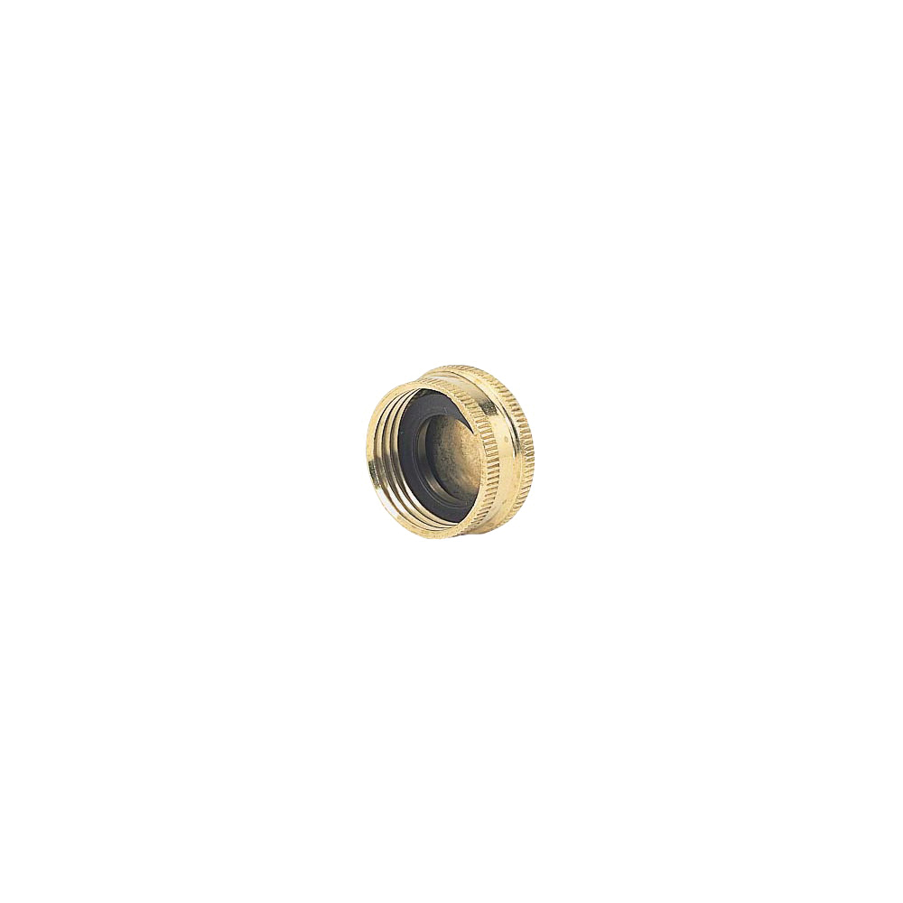 Picture of Gilmour 05HCC Hose Cap with Washer Threaded, Threaded, Brass