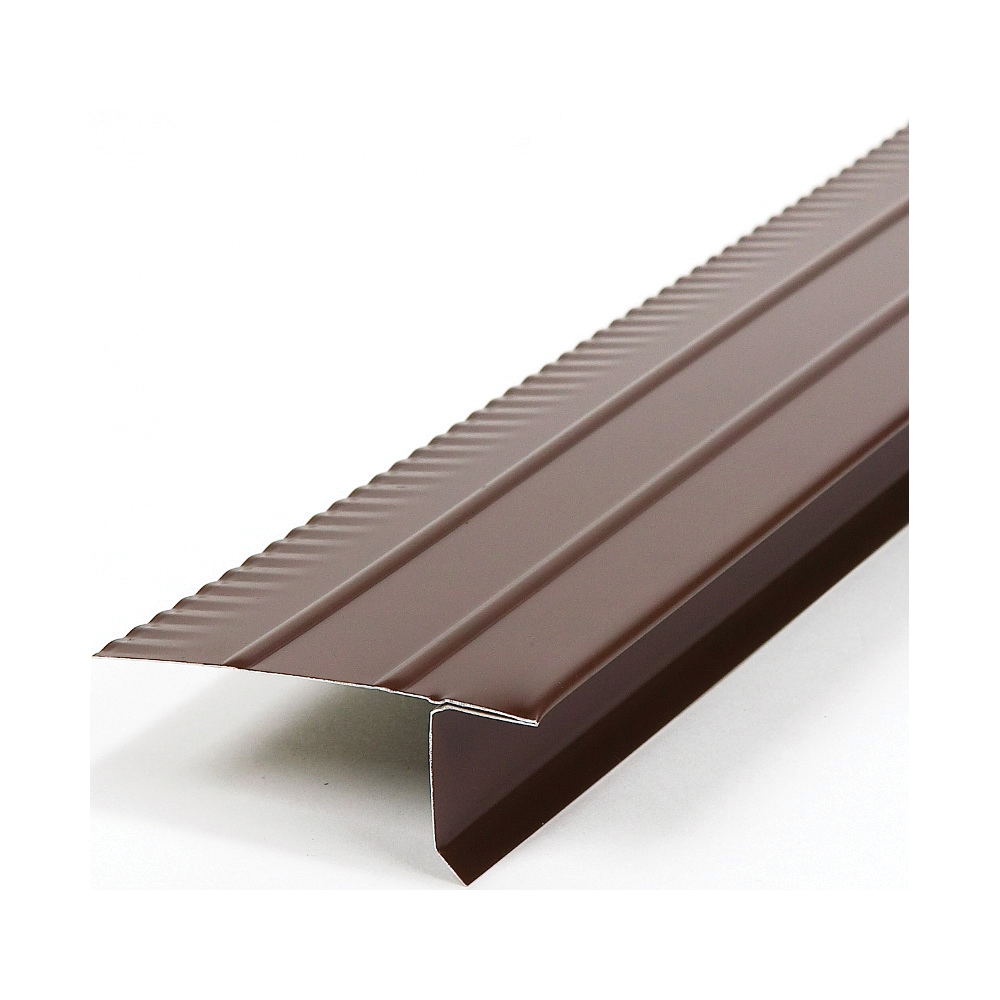 Picture of Amerimax 5701419120 Roof Edge, 10 ft L, Steel, Brown