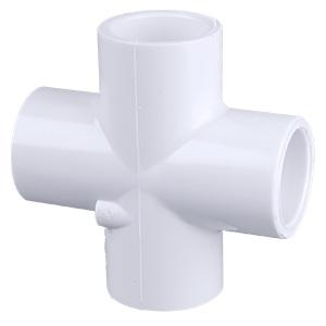 Picture of GENOVA 300 Series 34415 Pipe Cross, 1-1/2 in Slip Joint, 1-1/2 in Slip Joint, 1-1/2 in Slip Joint, 1-1/2 in Slip Joint