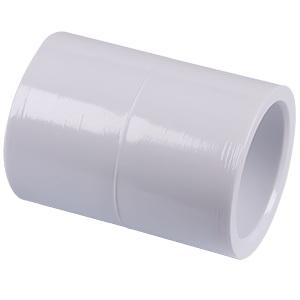 Picture of GENOVA 30130 Pipe Coupling, 3 x 3 in, Slip, PVC, White, SCH40 Schedule, 450 psi Pressure