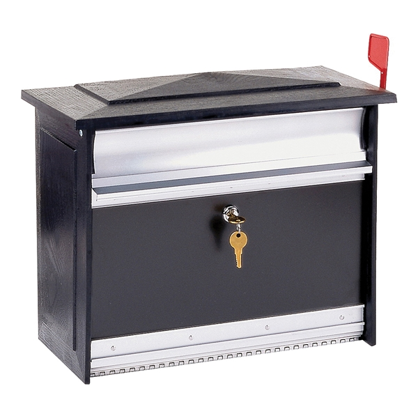Picture of Gibraltar Mailboxes Mailsafe MSK00000 Mailbox, 840 cu-in Capacity, Aluminum, Black, 17.1 in W, 8.4 in D, 13.3 in H