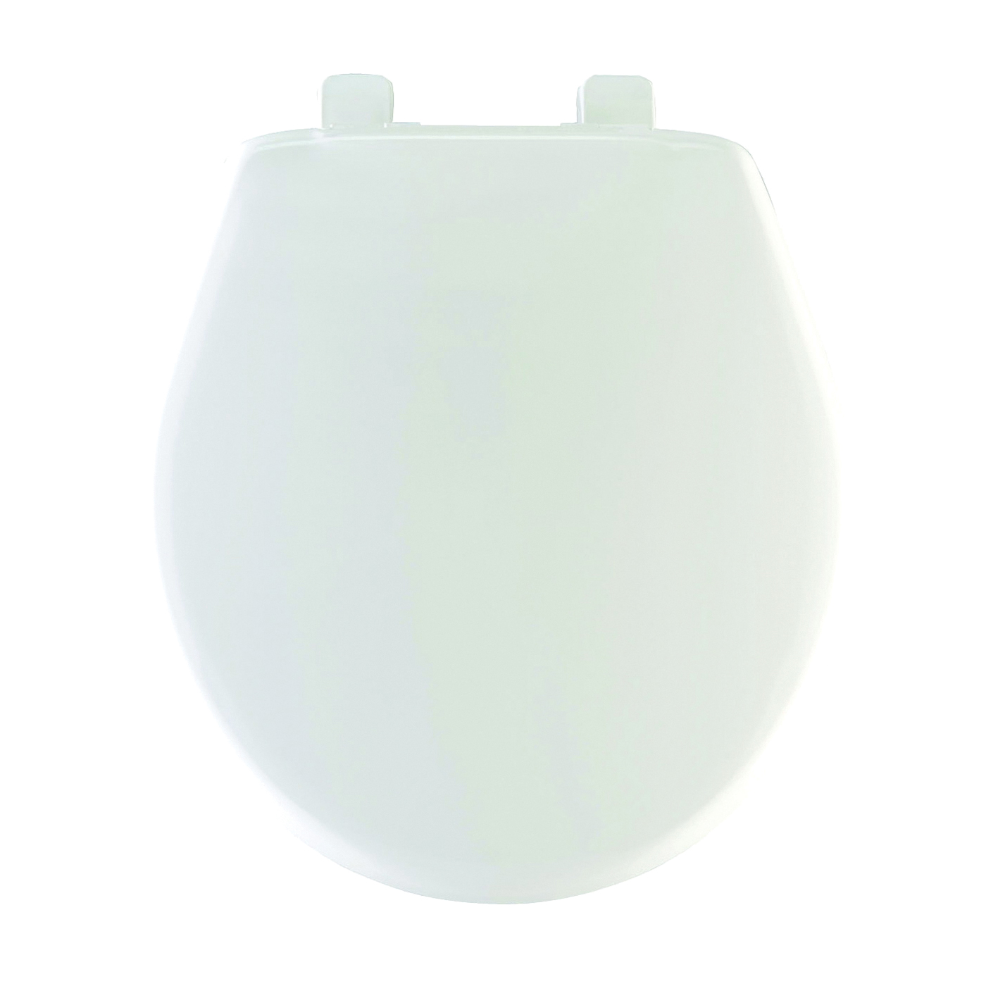 Picture of Mayfair 80SLOW000 Toilet Seat, Round, Plastic, White, Hex-Tite Hinge