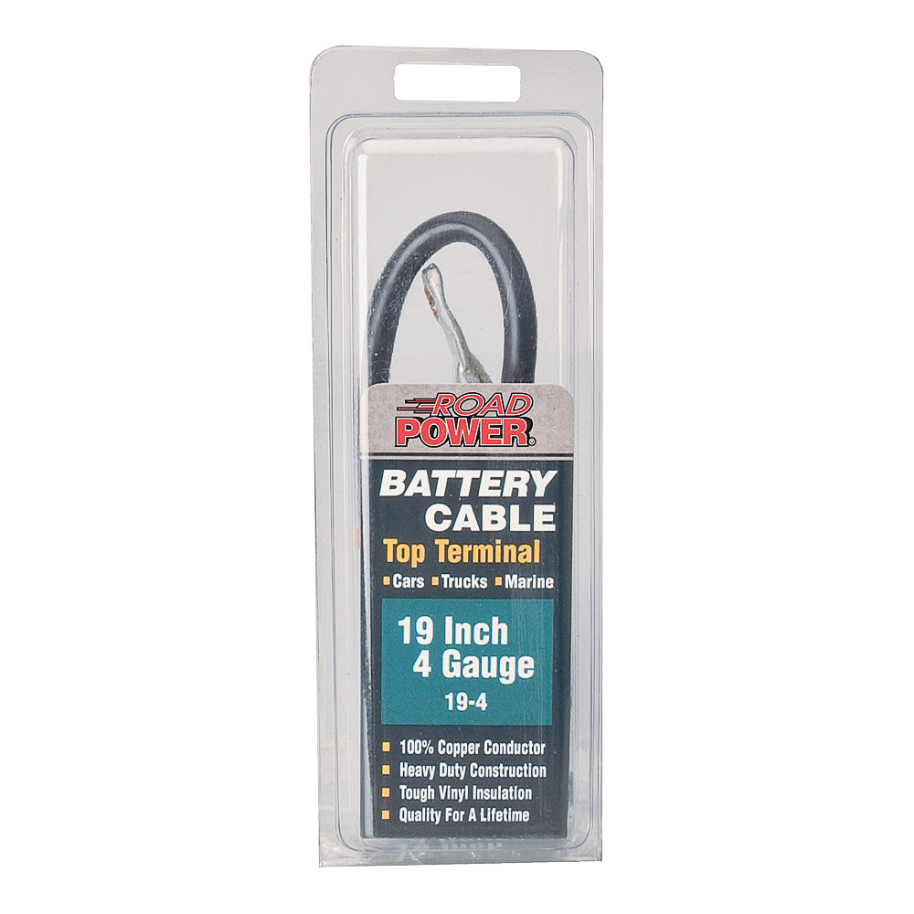 Picture of CCI Maximum Energy 19-4 Battery Cable, 4 AWG Wire, Black Sheath