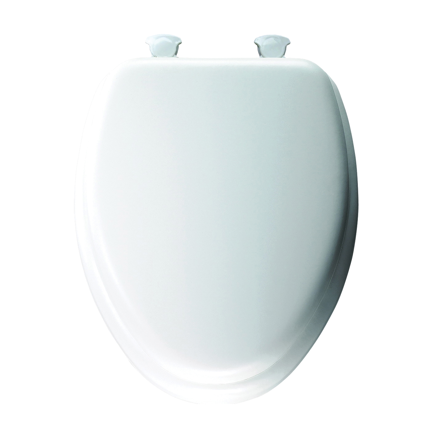 Picture of Mayfair 113EC-00 Toilet Seat with Cover, Elongated, Vinyl/Wood, White, Twist Hinge