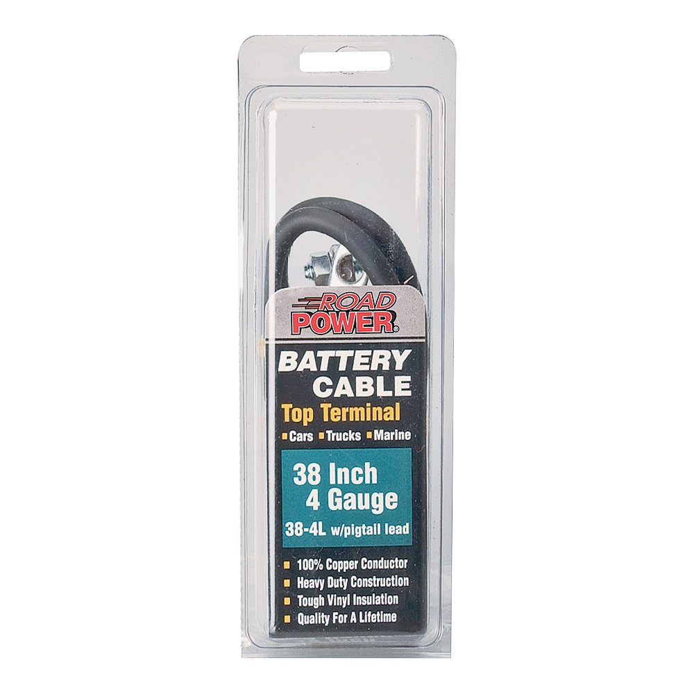 Picture of CCI Maximum Energy 38-4 Battery Cable, 4 AWG Wire, Black Sheath