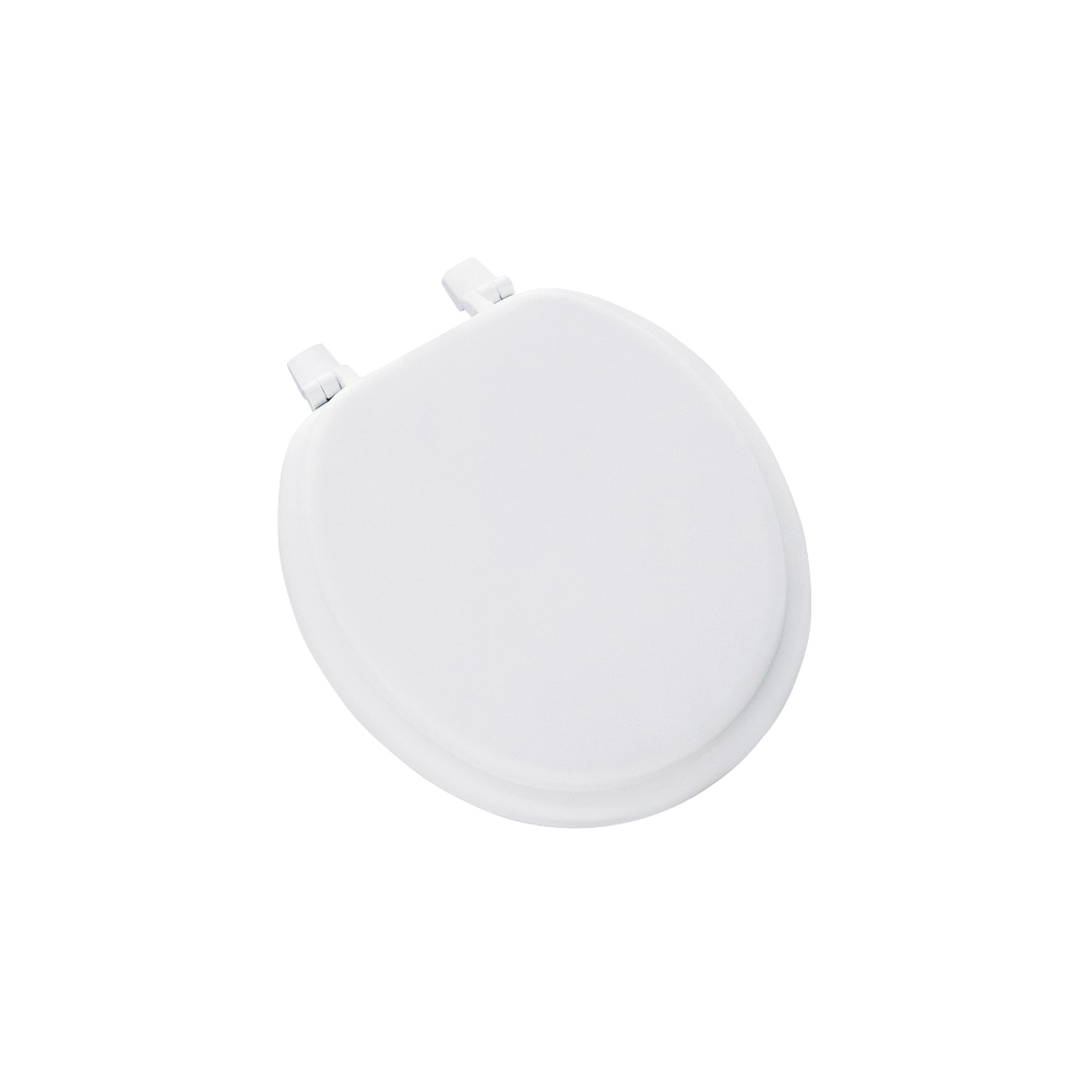 Picture of Mayfair 11-000 Toilet Seat, Round, Plastic, White, Top-Tite Hinge