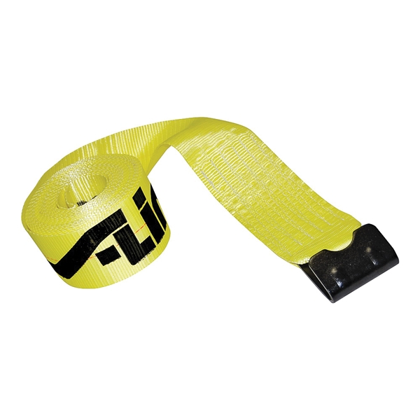 Picture of ANCRA 41660-10-30 Winch Strap with Flat Hook, 3 in W, 30 ft L, 5400 lb Vertical Hitch, Polyester