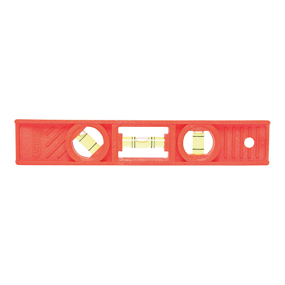 Picture of STANLEY 42-294 Torpedo Level, 8 in L, 3 -Vial, 1 -Hang Hole, Nonmagnetic, ABS