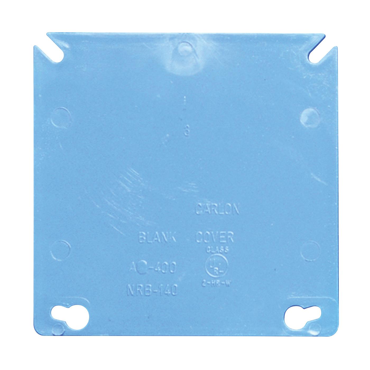 Picture of Carlon A400R-CAR Electrical Box Cover, 4 in L, 4 in W, Square, PVC, Blue
