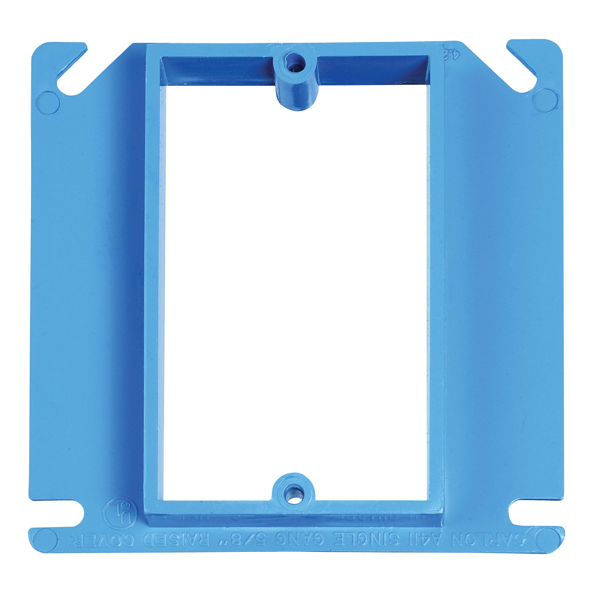 Picture of Carlon A410R-CAR Electrical Box Cover, 4 in L, 4 in W, Square, PVC, Blue