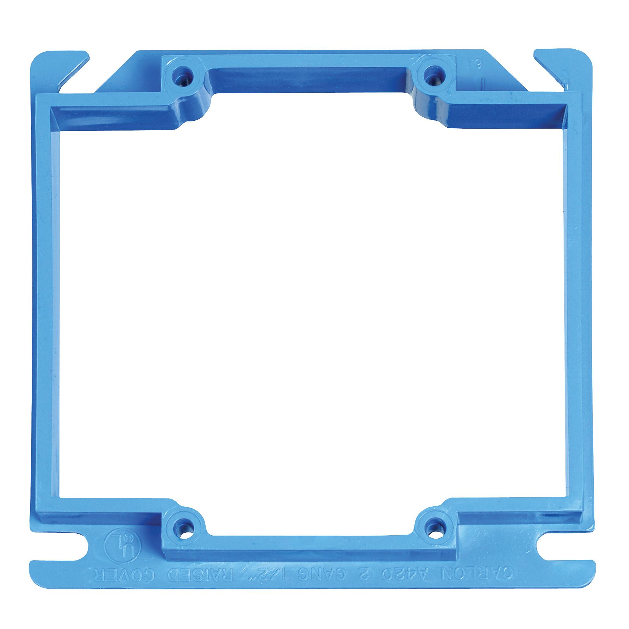 Picture of Carlon A420RR Electrical Box Cover, 4 in L, 4 in W, Square, PVC, Blue
