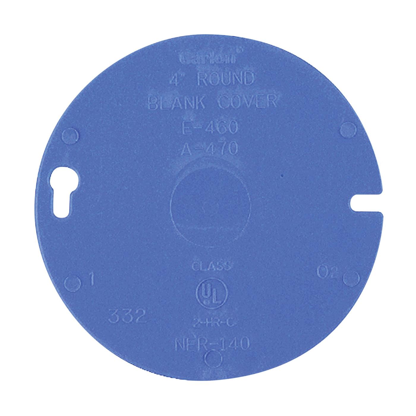 Picture of Carlon E460R-CAR Outlet Box Cover, 4 in Dia, Round, Plastic, Blue