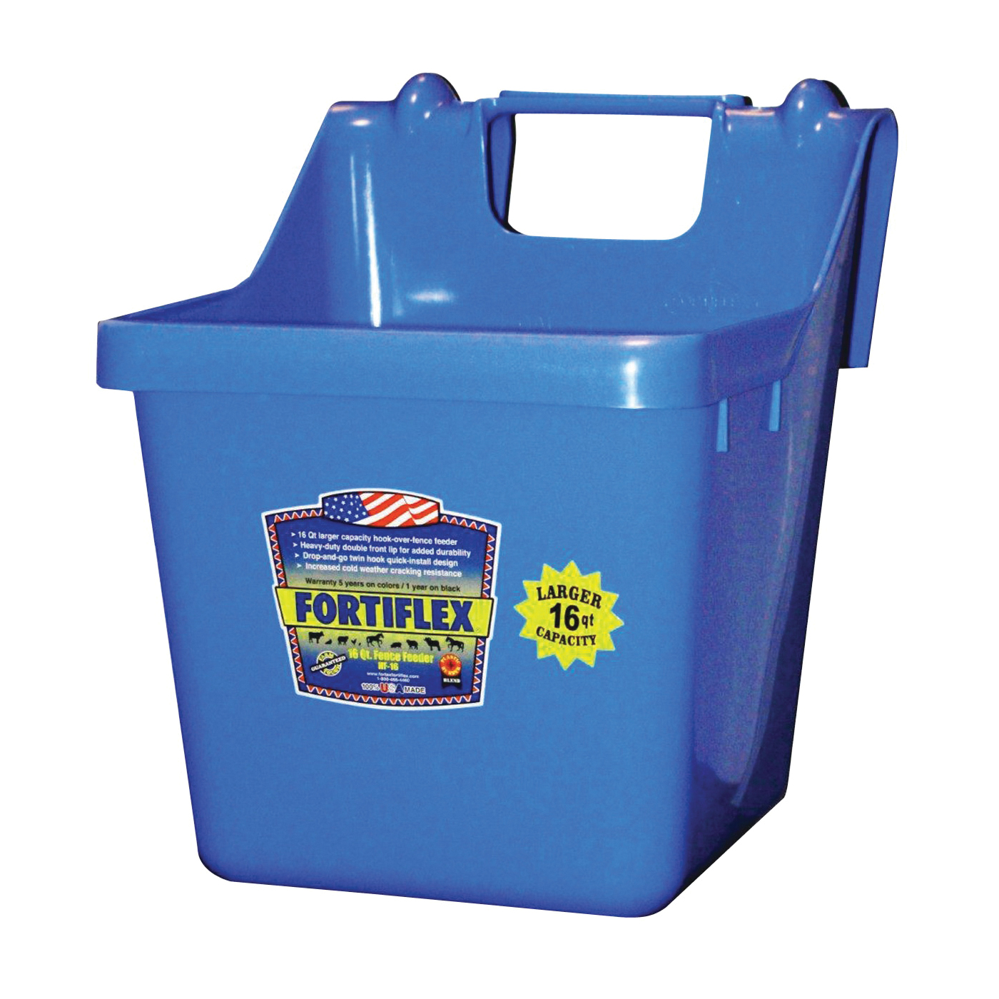 Picture of FORTEX-FORTIFLEX 1301600 Bucket Feeder, Fortalloy Rubber Polymer, Blue