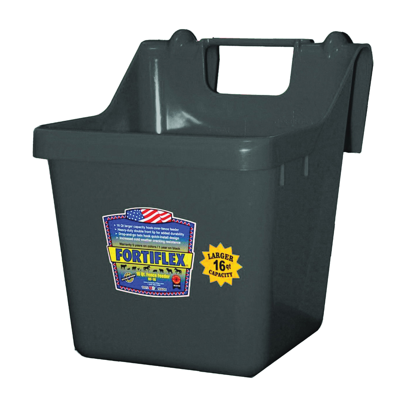 Picture of FORTEX-FORTIFLEX 1301601 Bucket Feeder, Fortalloy Rubber Polymer, Black