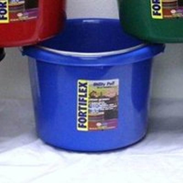 Picture of FORTEX-FORTIFLEX 1304840 Utility Pail, Fortalloy Rubber HDPE, Blue