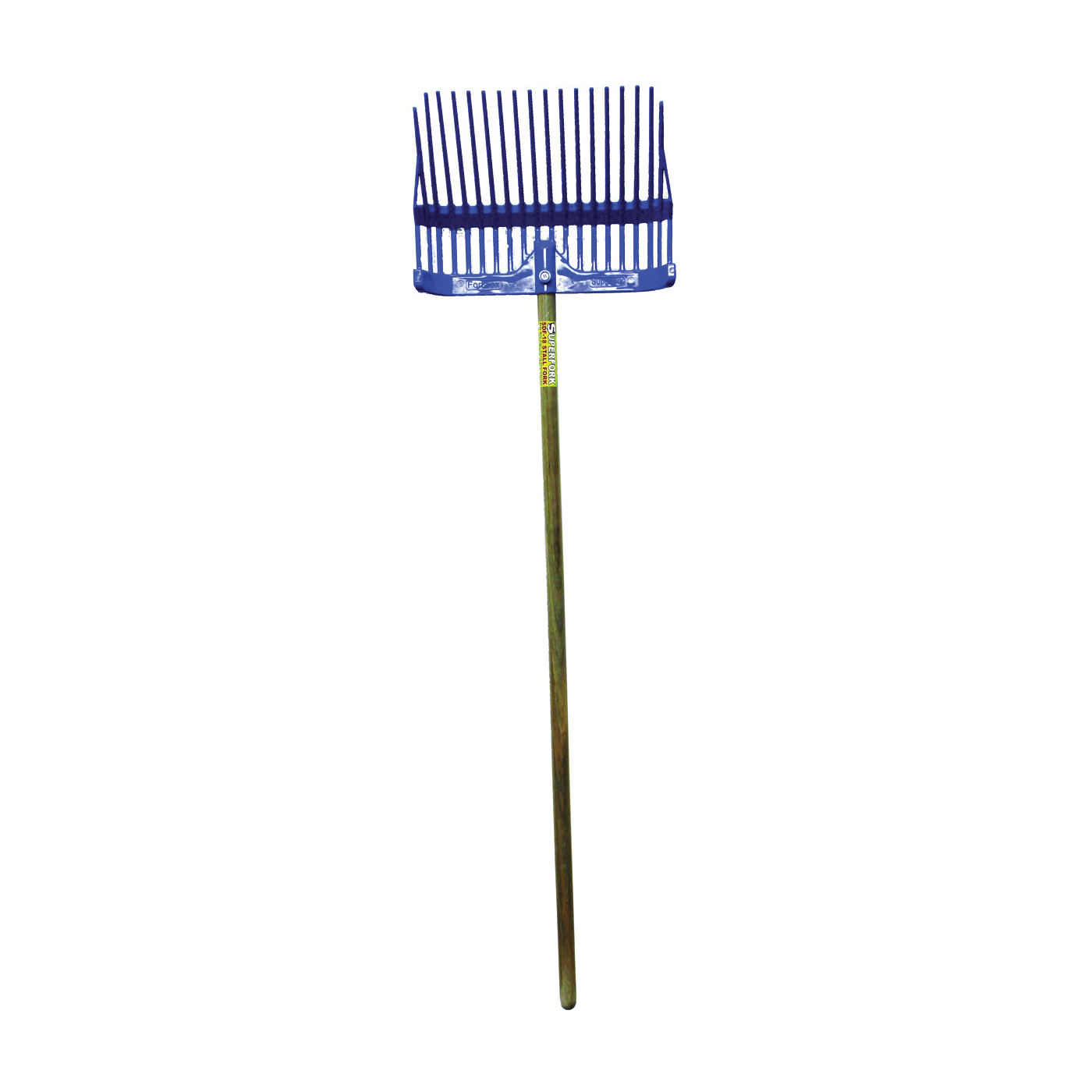 Picture of FORTEX-FORTIFLEX 1308100 Stall Fork, Plastic Tine, Polycarbonate Handle, Blue