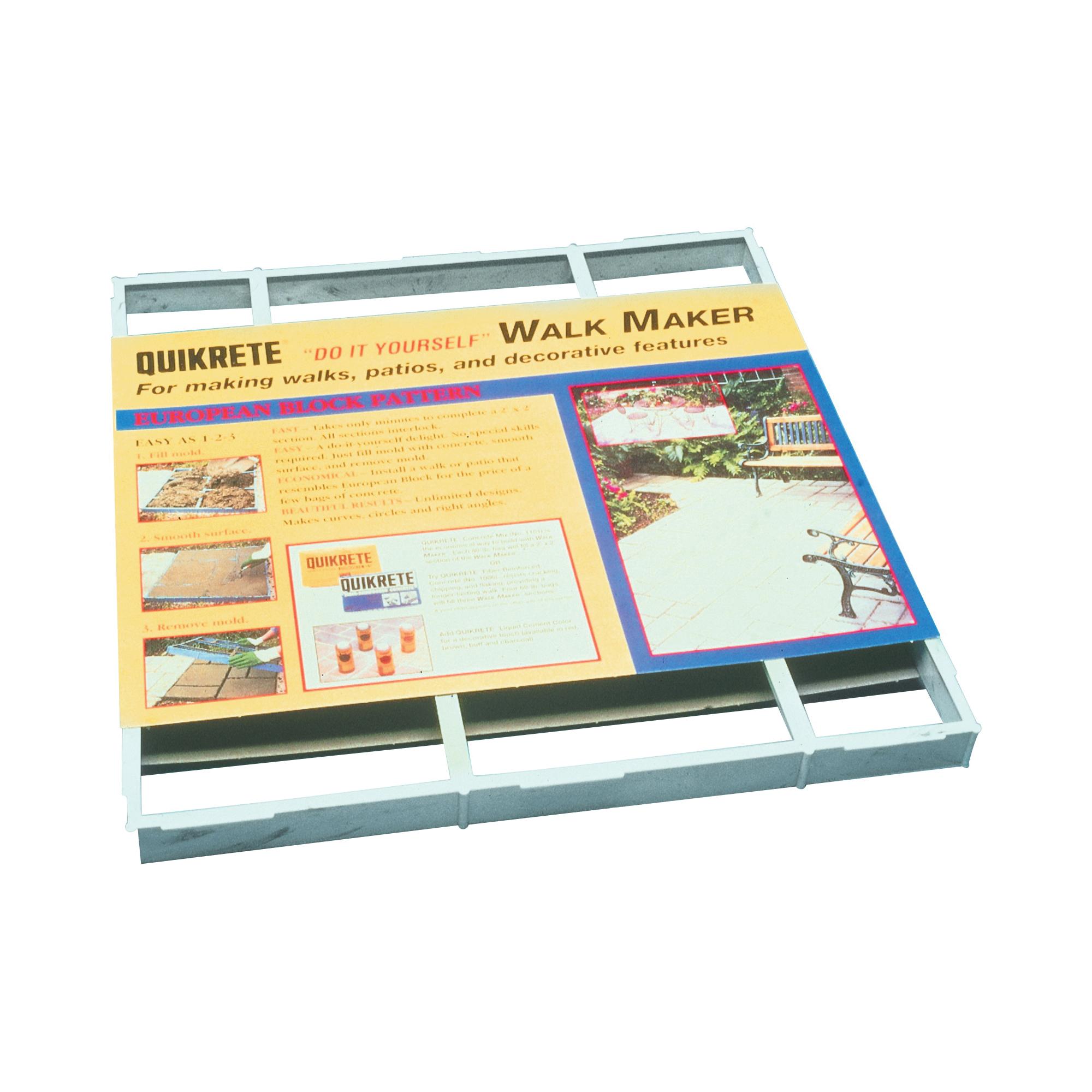 Picture of Quikrete Walk Maker 6921-34 Building Form, 2 ft L Block, 2 ft W Block, Plastic, 80 lb, European Block Pattern