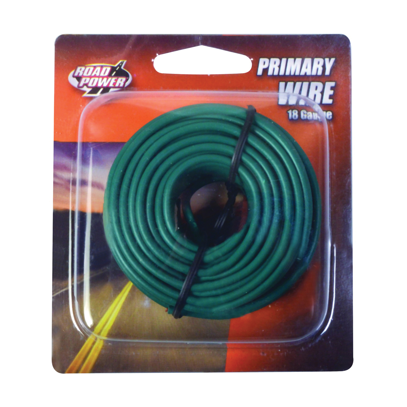 Picture of CCI Road Power 55835033/18-1-15 Electrical Wire, 18 AWG Wire, 25 VAC, 60 VDC, Copper Conductor, Green Sheath