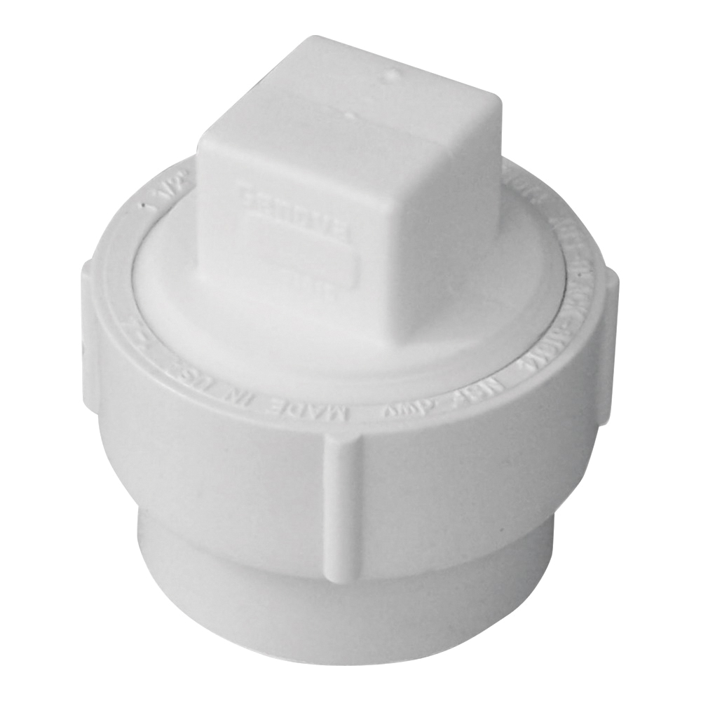 Picture of GENOVA 71640 Fitting Cleanout with Threaded Plug, 4 in, Spigot x FIP, PVC, SCH 40 Schedule