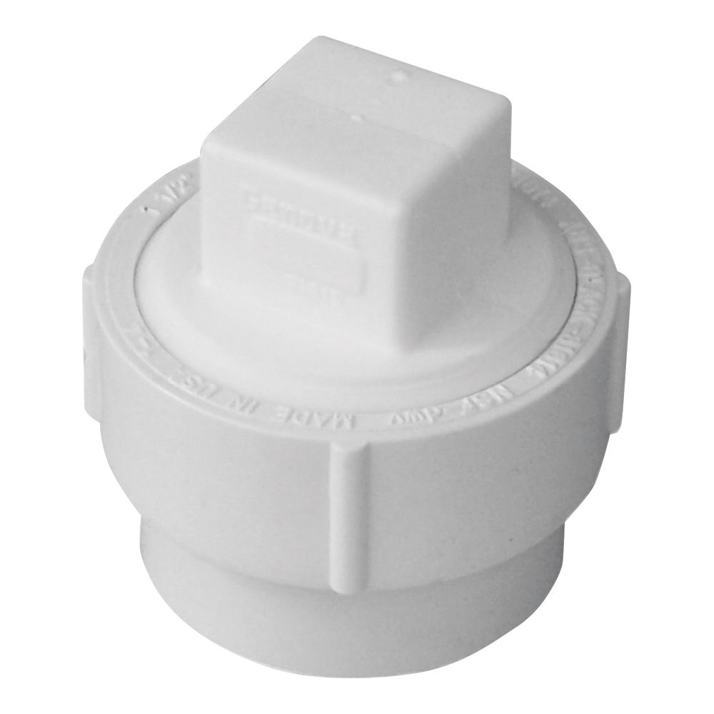 Picture of GENOVA 71615 Fitting Cleanout with Threaded Plug, 1-1/2 in, Spigot x FIP, PVC, SCH 40 Schedule