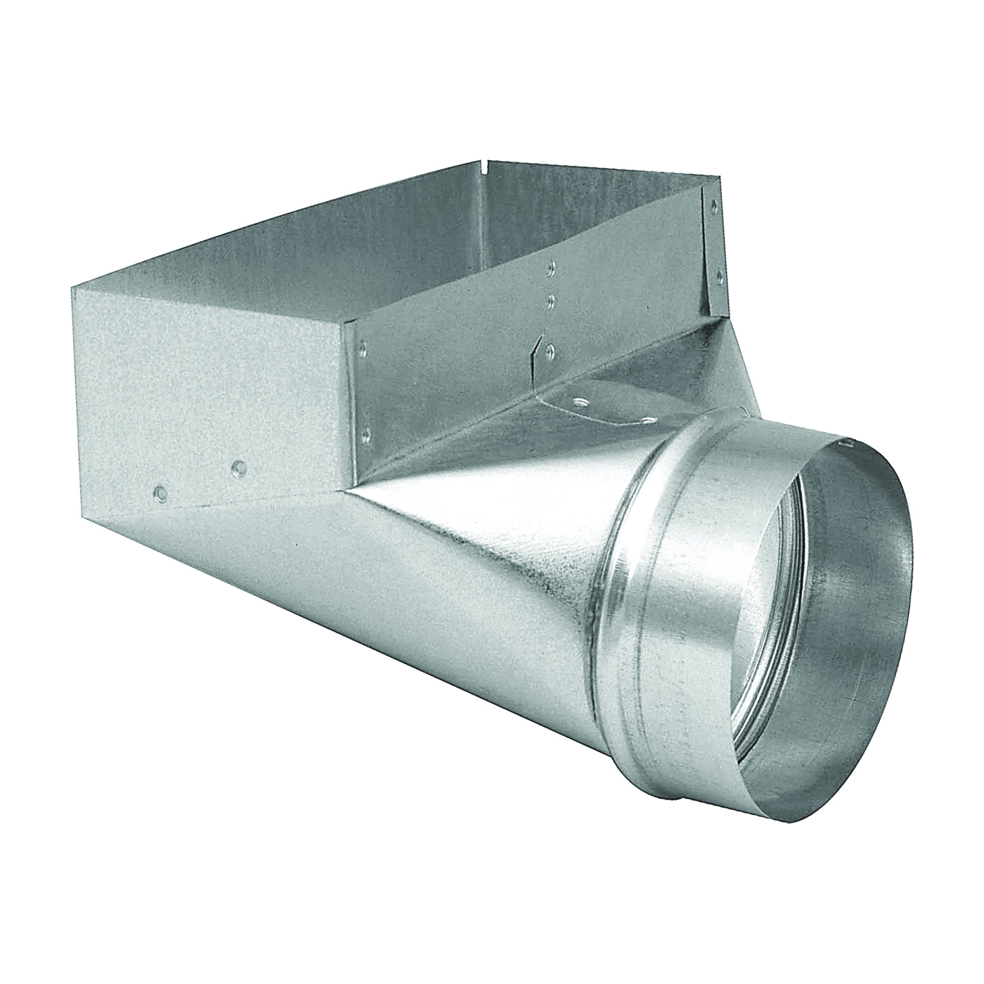 Picture of Imperial GV0627-C Wall Register Boot, 4 in L, 12 in W, 6 in H, 90 deg Angle, Galvanized