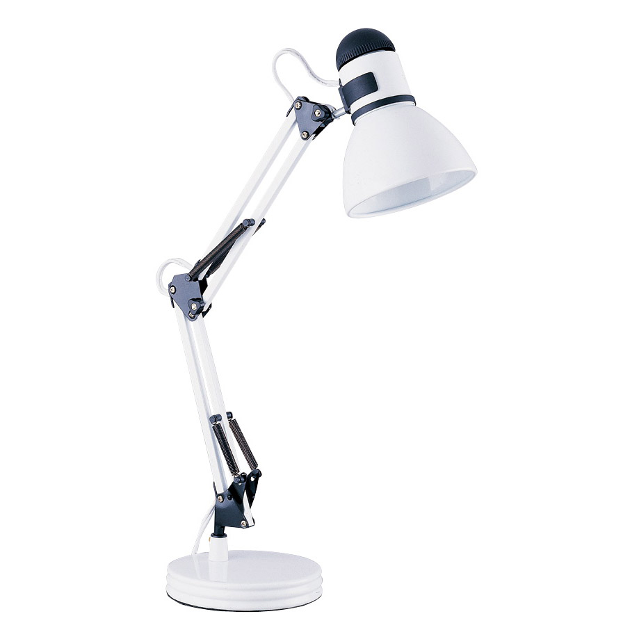Picture of Boston Harbor TL-WK-134E-WH-3L Swing Arm Work Lamp, 120 V, 60 W, 1-Lamp, A19 or CFL Lamp, White
