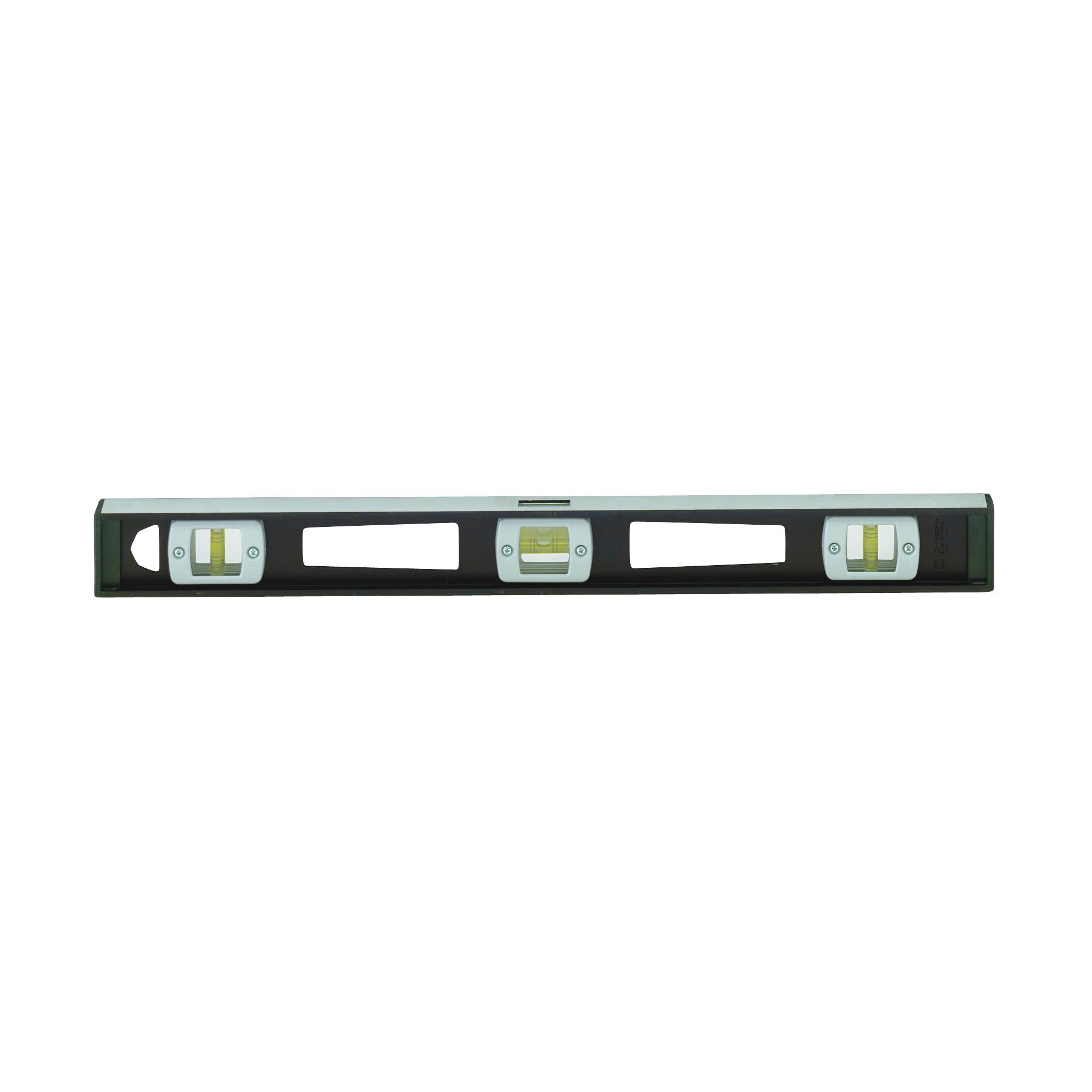 Picture of Johnson 3872 I-Beam Level, 72 in L, 5 -Vial, Magnetic, Aluminum, Black
