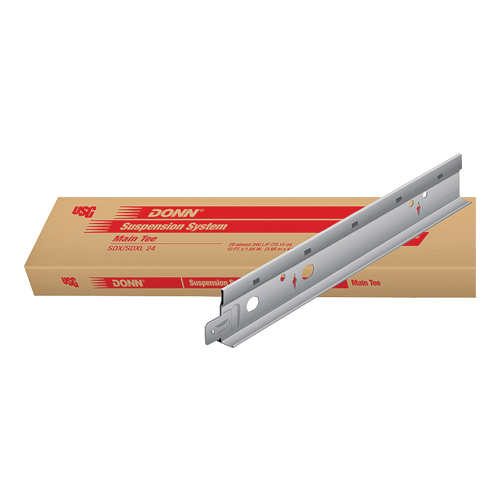 Picture of USG DONN SDX/SDXL SDKL24 Main Tee, Galvanized Steel, Flat White