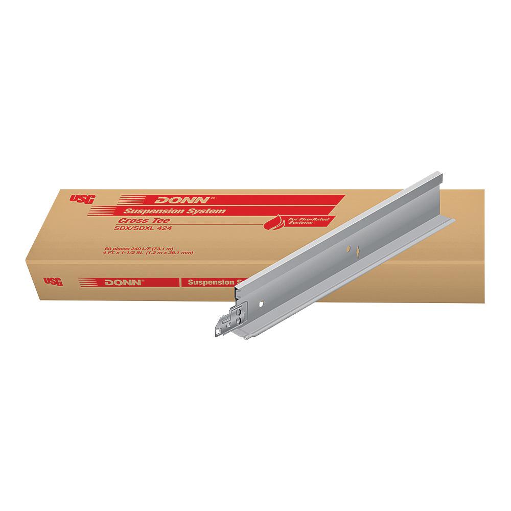 Picture of USG DONN SDX/SDXL SDX/SDXL424 Cross Tee, Galvanized Steel, Flat White